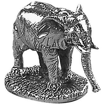 Orton West Elephant Ornament - Silver