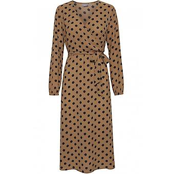 b.young Spot Print Wrap Dress