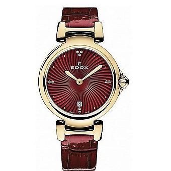 Edox Horloges LaPassion 2 Handen Women's Watch 57002 37RC ROUIR