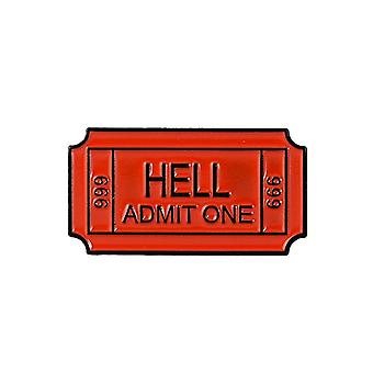 Attitude Clothing One Way Ticket To Hell Enamel Pin
