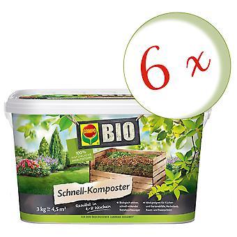 Sparset: 6 x COMPO BIO Quick Composter, 3 kg