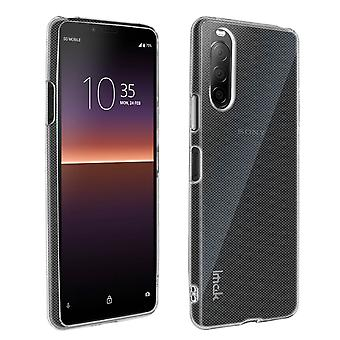 Case voor Sony Xperia 10 2 Soft Siliconen Matte Clear + Flexibele screenprotector