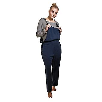 Jumpsuit with striped t-shirt - navy overall playsuit one size