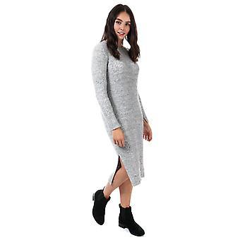 Dames's Vero Moda Rozina Long Sleeve Jumper Dress in Grey
