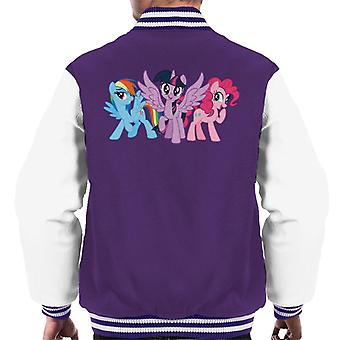 My Little Pony Main Characters Giggling Men's Varsity Jacket