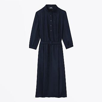A.P.C. - Marion Jacquard Silk Dress - Navy