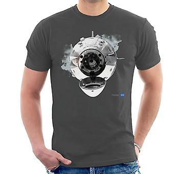 NASA SpaceX Dragon-Kapsel Docking-Herren T-Shirt