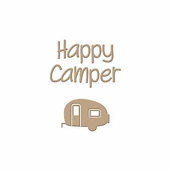Spellbinders onnellinen camper kuuma folio levy