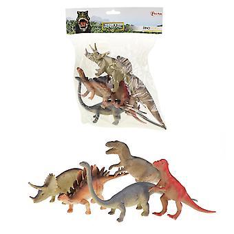 5pcs デラックスおもちゃ動物恐竜T-Rex 20cmフィギュア