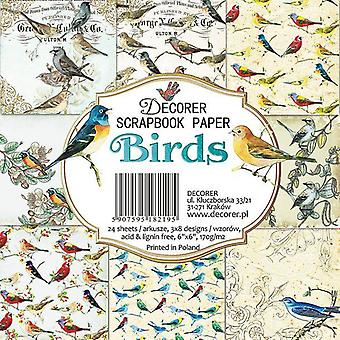 Sisustussuunnittelija Linnut 6x6 tuuman paperi pack