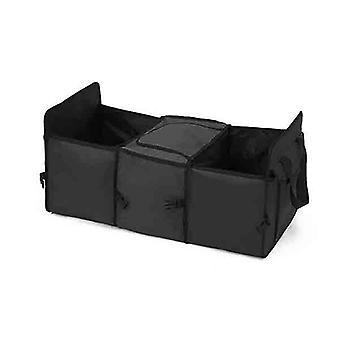 Soga Car Portable Storage Box Waterproof Cloth Multifunction Black