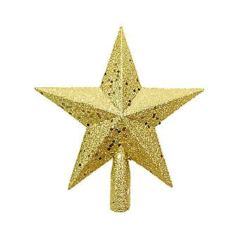 Christmas Tree Decoration Five-pointed Star Gold 19x19.5CM
