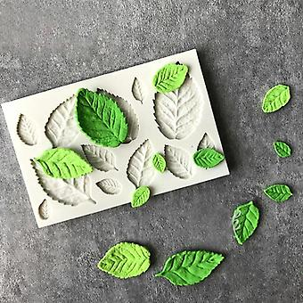 Rose Leaves Silicone Kitchen Accessories Cake Mold For Cake Decoration