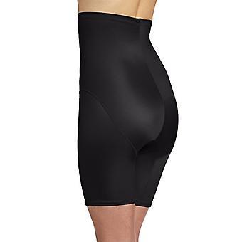 Bali Women's Shapewear Cool Comfort Hi-Waist Thigh Slimmer, Black, XX-Large