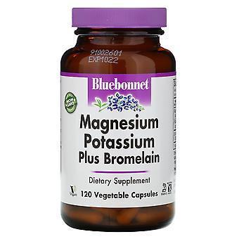 Bluebonnet Nutrition, Magnésium Potassium Plus Bromelain, 120 Vcaps