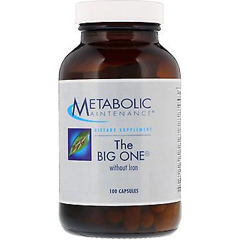 Metabolic Maintenance, The Big One without Iron, 100 Capsules