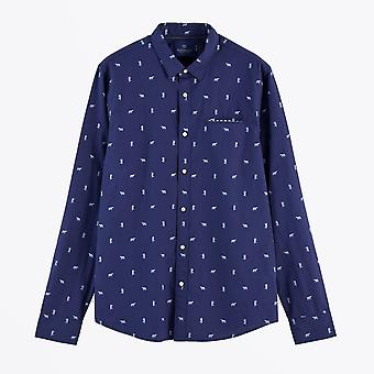 Scotch & Soda  - Embroidered Pocket Shirt - Navy