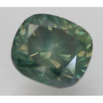 Cert 2.10 قيراط الأزرق الأخضر SI1 وسادة المحسن الماس الطبيعي 7.61x6.69mm