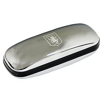 Aston Villa FC Official Chrome Metal Football Crest Glasses Case