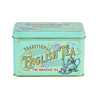 Vintage victorian tea tin with 40 english breakfast teabags