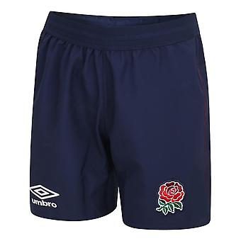 Umbro England RFU Rugby Alternate Shorts   Blue   2020/21   Junior