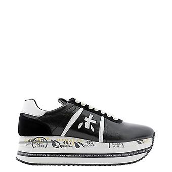 Premiata Beth4842 Dames's Black Leather Sneakers