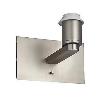 Wall Matt Nickel Plate 1 Lumière IP20 - E27