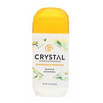 Crystal Body Deodorant Crystal Natural Deodorant Stick, Chamomile & Green Tea 2.5 Oz