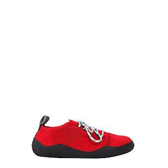 Lanvin Fmskdindknit30 Men's Red Nylon Sneakers