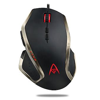 Multi-colour programmable gaming mouse with 9 buttons