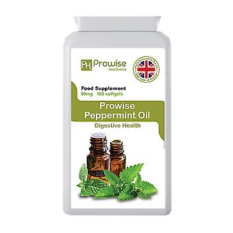 Peppermint Oil 50mg-180 softgels - UK Manufactured to GMP Guaranteed Quality by Prowise