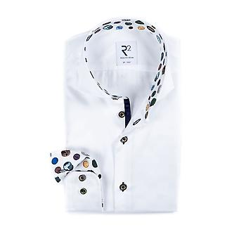 R2 Cut Away Collar Shirt White