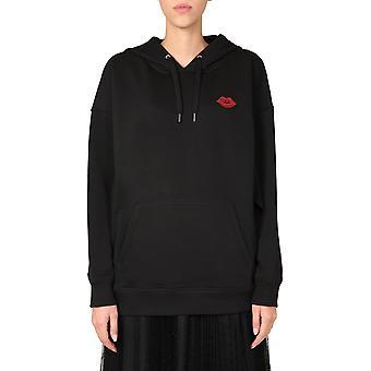 Red Valentino Ur0mf05d5jg0no Women's Black Cotton Sweatshirt