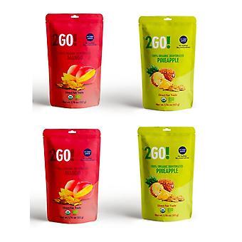 2go! Bio getrocknete Frucht Vielfalt Pack