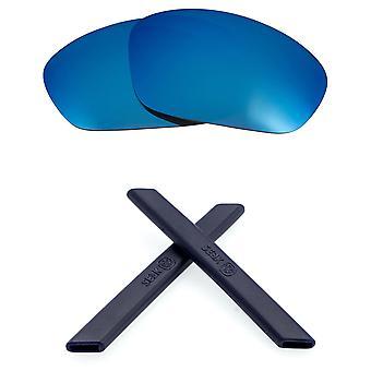 עדשות חלופיות וערכה לאוקלי ישר ז'קט כחול מראה & כחול כהה נגד שריטות נגד בוהק UV400 על ידי SeekOptics