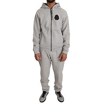 Pantaloni pulover din bumbac gri trac78952023
