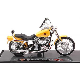 Maisto Harley Davidson 2001 FXDWG Dyna Wide Glide - Żółty - 1:18