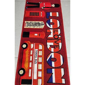 Love London Polyester Area Rug antideslizante alfombra pequeña / corredores