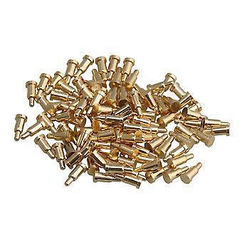 100x réz áram réz pogo csapok szonda Arany 2mm Dia 4,5 mm magasság