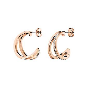 Calvin Klein Outline Rose Gold Ladies Earrings Jewellery KJ6VPE140100