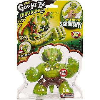 Heroes of Goo Jit Zu Dino Power Action Figure - Tritops The Triceratops