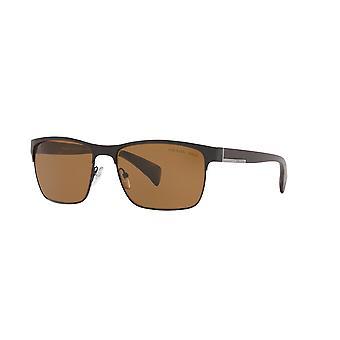 Prada L Metal SPR51O 1BO/5Y1 Matte Black/Polarised Brown Sunglasses