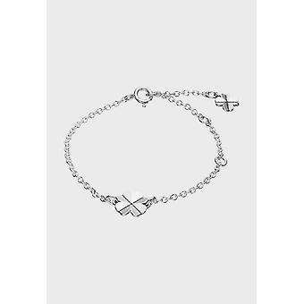 Kalevala المرأة سوار أربع أوراق كلوفر الفضة 2569180195 - طول 195 مم