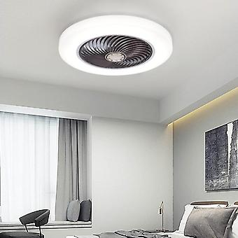 Lys fjernbetjening soveværelse decor Ventilator Lampe 52cm Luft usynlige blade