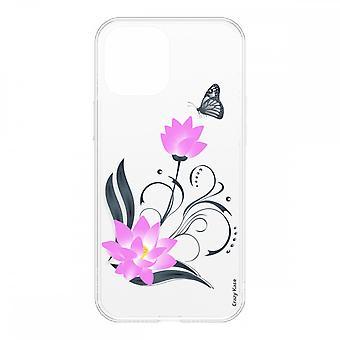Schale für Iphone 12 Mini (5,4) Weich Lotus Blume Und Schmetterling