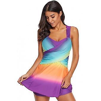 Tie Dye Swim Dress With Shorts