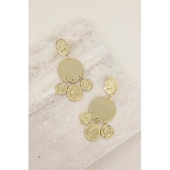 Jingle Coin Statement 18k Gold Plated Earrings