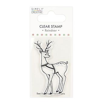Simply Creative Deer Clear Stamp