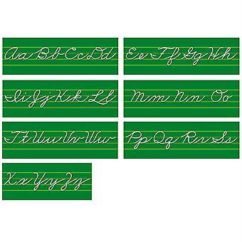 Traditional Cursive Alphabet Lines Bulletin Board Set