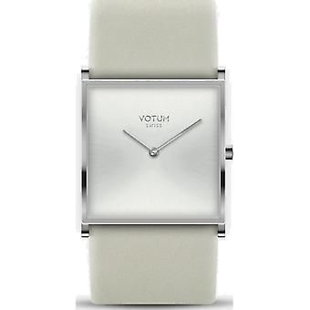 VOTUM - Reloj de señoras - SQARE - Puro - V02.10.50.05 - correa de cuero - crema blanca